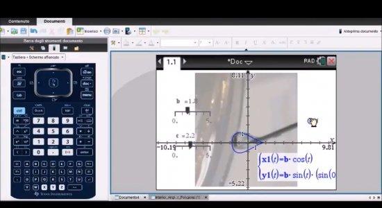 Matematica e fisica in una goccia d'acqua con la calcolatrice grafica TI-Nspire CX