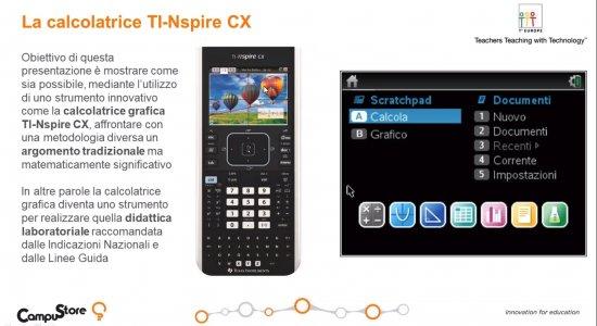 La calcolatrice grafica TI-Nspire™ CX come strumento innovativo per la matematica