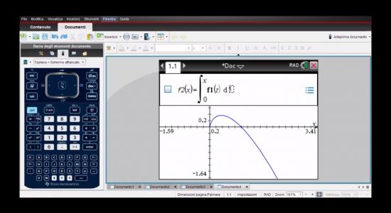 La calcolatrice grafica alla seconda prova – Grafico di funzioni integrali e calcolo di aree