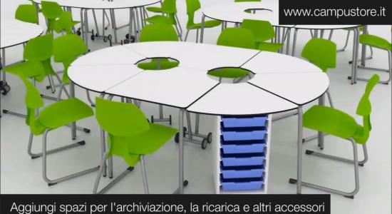 Arredi modulari per la scuola – Ambienti digitali e spazi alternativi per l'apprendimento