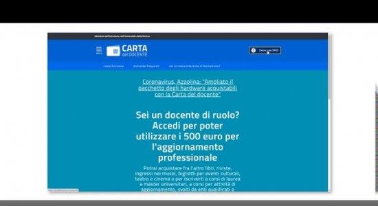 Guida all'acquisto con Carta del docente sul sito CampuStore
