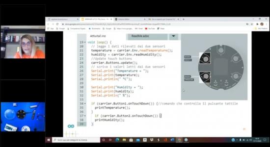 Scoprire l'IoT a scuola e da casa con Arduino Explore IoT Kit – Secondo incontro