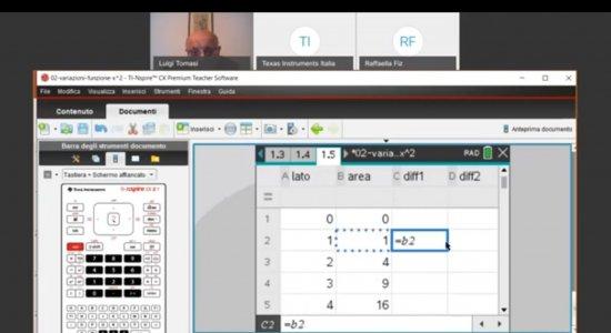 Funzioni e grafici: introduzione alla derivata di una funzione con la calcolatrice grafica