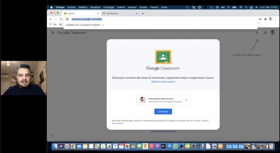 Alessandro Bencivenni: sondaggi durante le lezioni con Google Meet