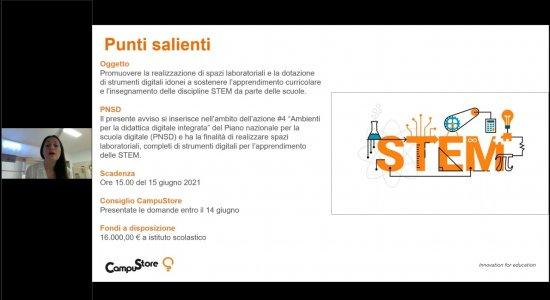 Spazi laboratoriali e strumenti digitali per le STEM