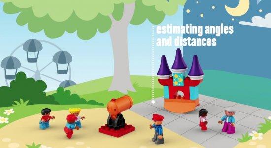 LEGO Education STEAM Park: stimare angoli e distanze e capire causa ed effetto.